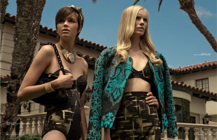 Салли Йонссон (Sally Jonsson) и Блейк Майерс (Blake Myers) в журнале Glamoholic