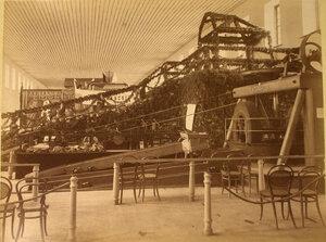 Вид моделей золотопромышленных машин Е.М. Симанова в горнозаводском отделе выставки.