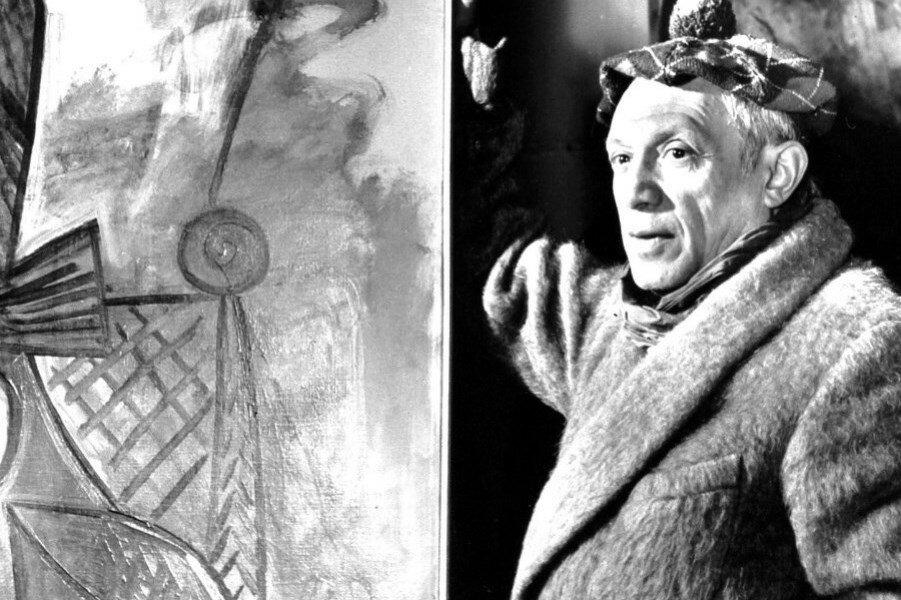 Picasso In Paris Studio, 1944.
