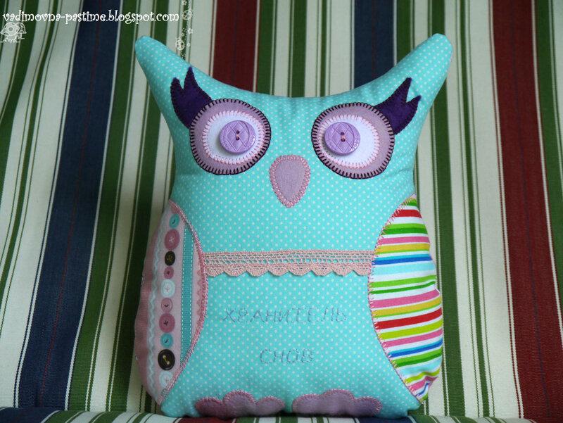 сова игрушка-подушка