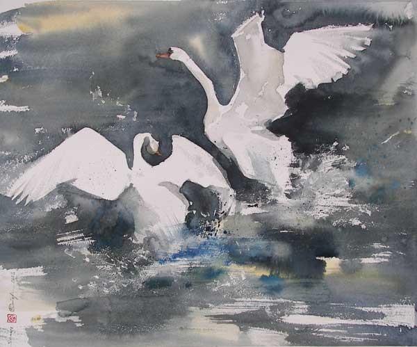 Стерхов Константин, Love-1, 2008, бумага, акварель, 45x55см