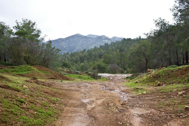 дорога в горах на Кипре