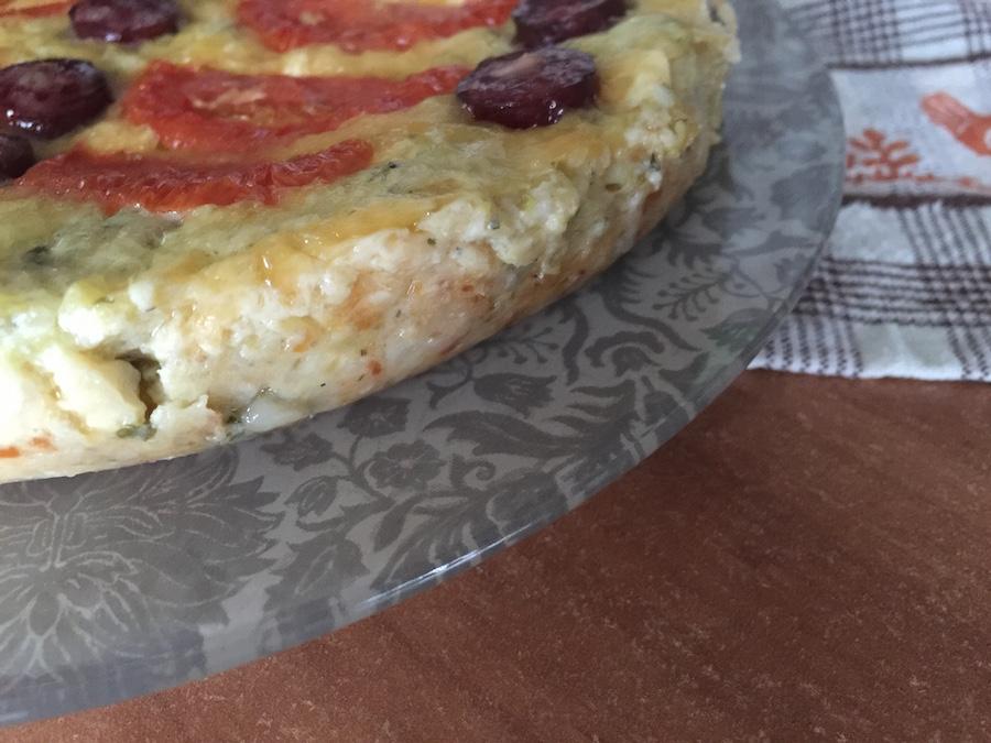 Кабачковая запеканка с колбасками