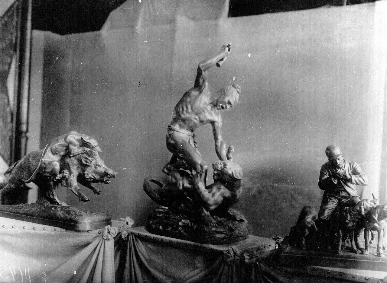 02. Скульптурные группы на охотничьи темы