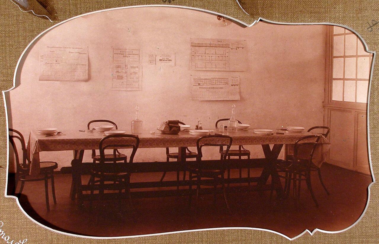 Вид части помещения столовой на Мариинском машиностроительном заводе