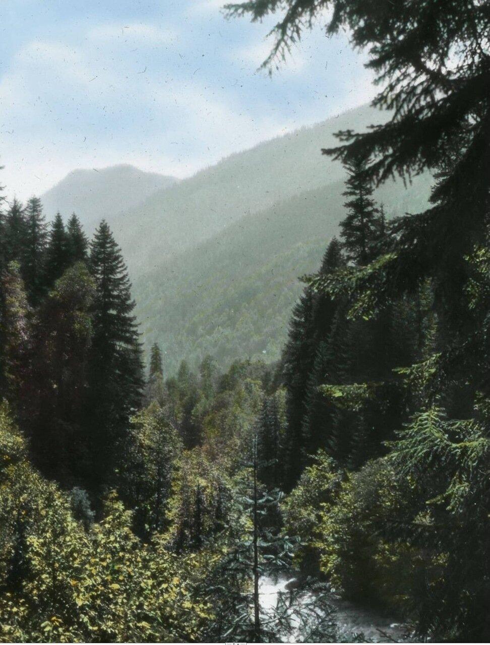 Вид гор и реки Накра
