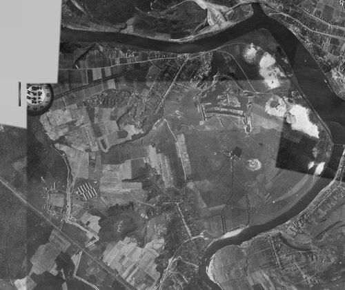 Аэрофотосъемка района Крылатское 8 июля 1942 года