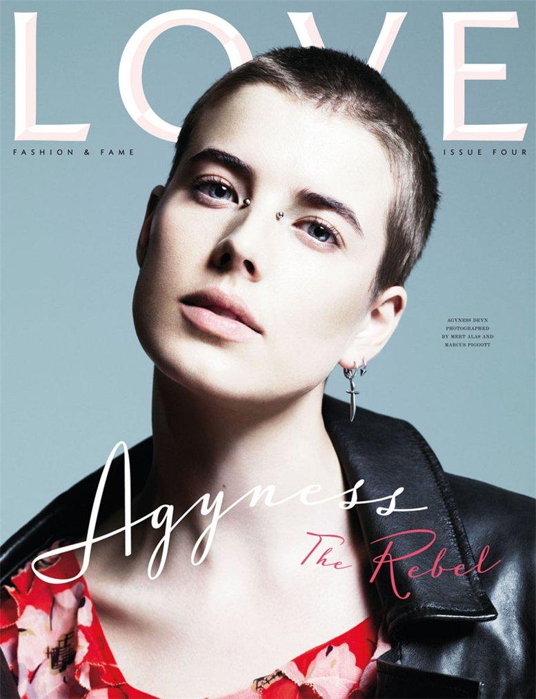 Love Magazine 4 covers by Mert Alas and Marcus Piggott - Agyness Deyn