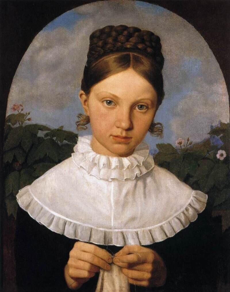 Portrait of Fanny Gail.Heinrich Maria von Hess