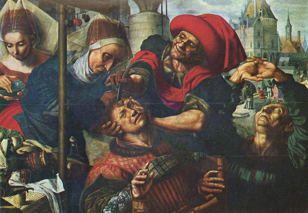Извлечение камней глупости. 1545-1550. Jan Sanders van Hemessen(1500-1566)Хемессен, Ян ван(1500–1579);