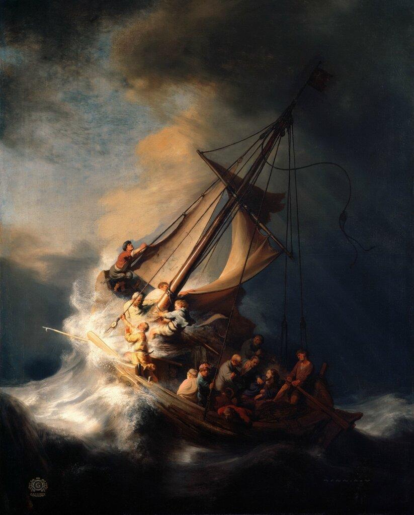 Христос в шторм на Галилейском море1633