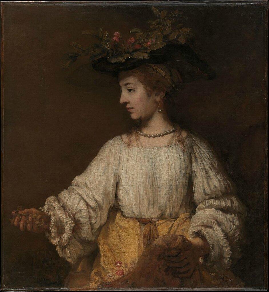«Посмертный портрет Саскии в образе Флоры» (1660, Нью-Йорк).
