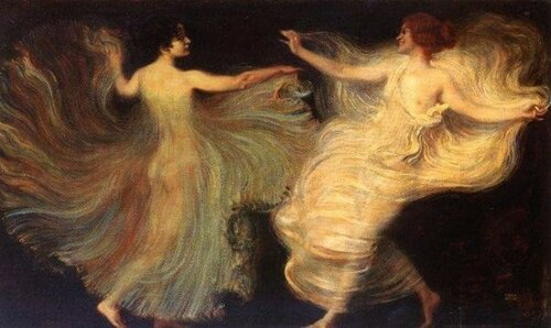 Franz von Stuck (1863 – 1928, German)   Dancers
