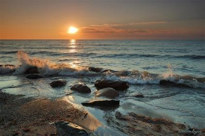 День Черного моря. Солнце падает в море