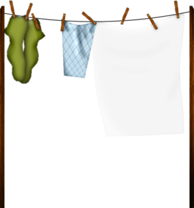 clothes on the rope