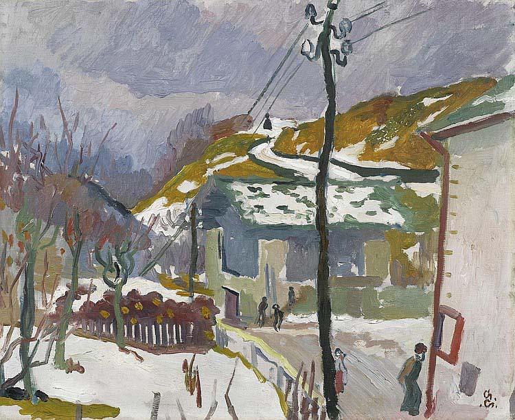 Giovanni Giacometti - Strada, sciogliere della neve (melting snow). Circa 1915.jpg