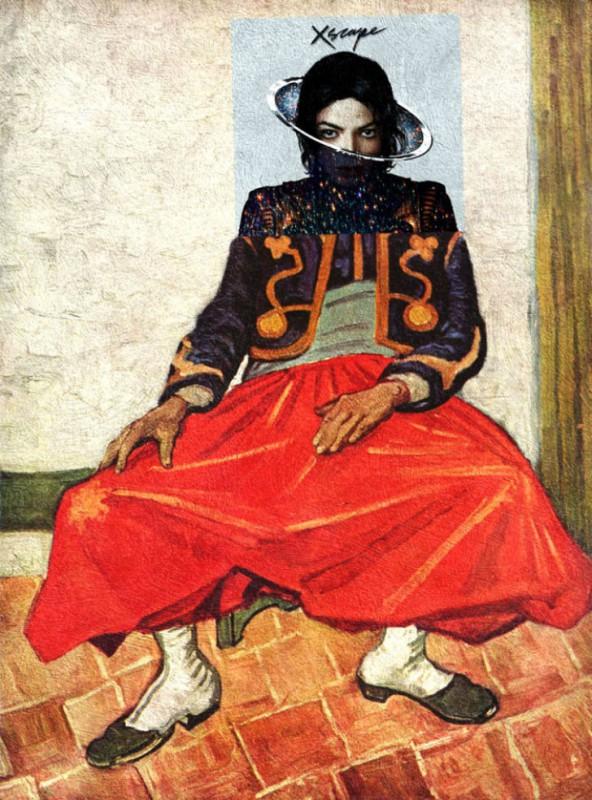 Обложка альбома Майкла Джексона Xscape и картина Винсента Ван Гога «Зуав».