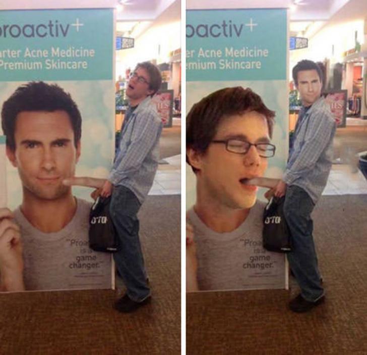 Это Адам Левин из Maroon 5. И его палец, а не то, о чем вы могли подумать. Приложение нетривиально р