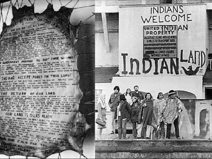 В 1969 году небольшая группа индейцев в знак протеста против нарушения человеческих прав в США захва