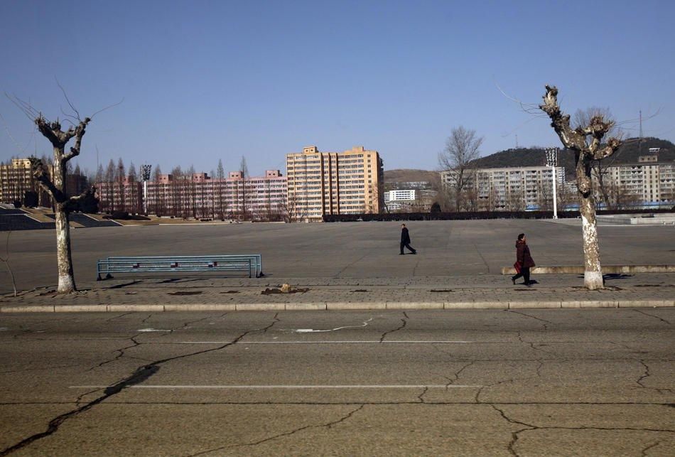 Народная публичная библиотека в Пхеньяне, 26 февраля 2008: