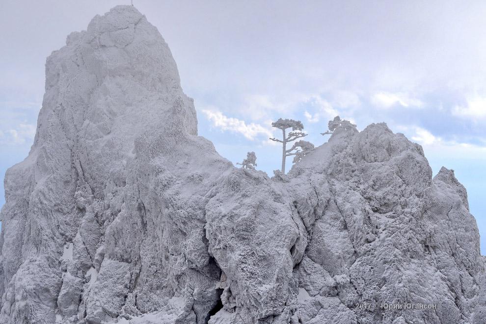 Крым: Ай-Петри в снегу
