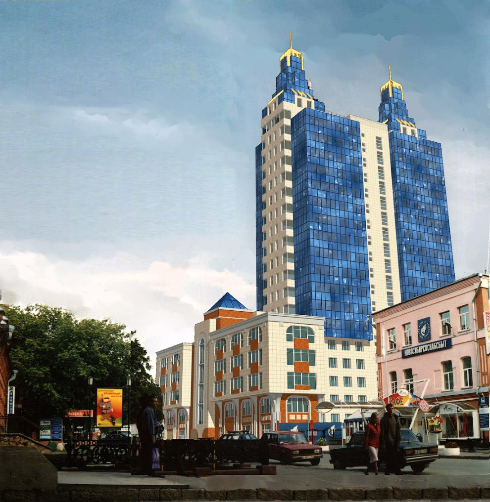 74. Август 2001 года. Вид со стороны станции метро Октябрьская.