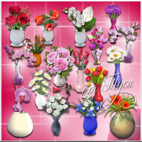 Клипарт - Цветочная феерия