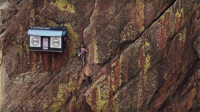 Подвесной магазин для скалолазов в каньоне Эльдорадо