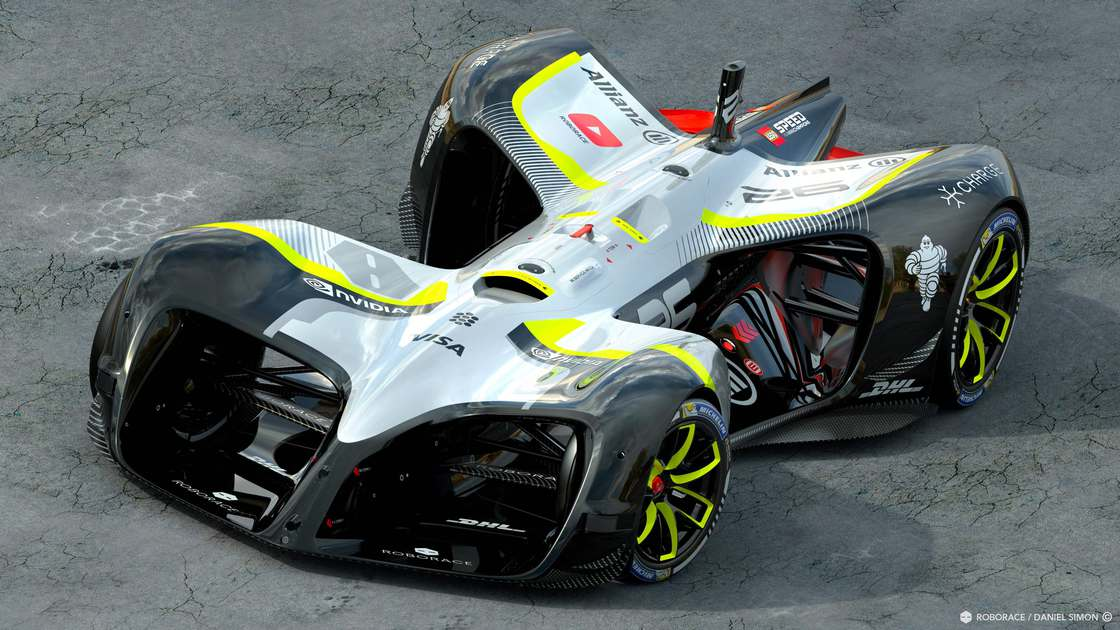 Robocar – The autonomous racing car at 200km/h at the Berlin ePrix (11 pics)