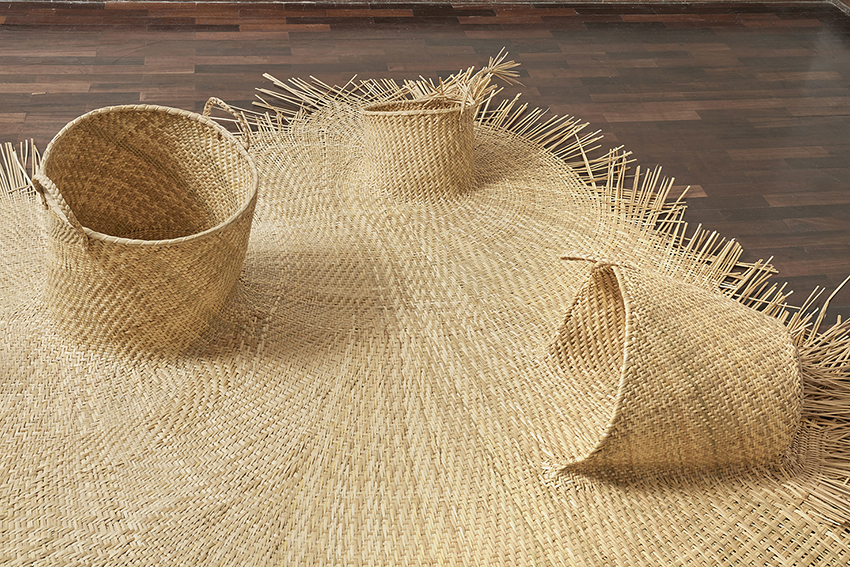 New Plant-Based Embroidery and Interconnected Baskets by Ana Teresa Barboza
