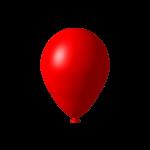Красный нарисованный шарик