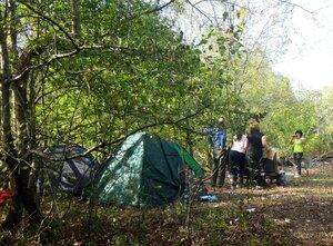 У палаток ... 005. Фотособытие, связанное с КСП, октябрь 2017, окрестности Горячего Ключа(2).JPG