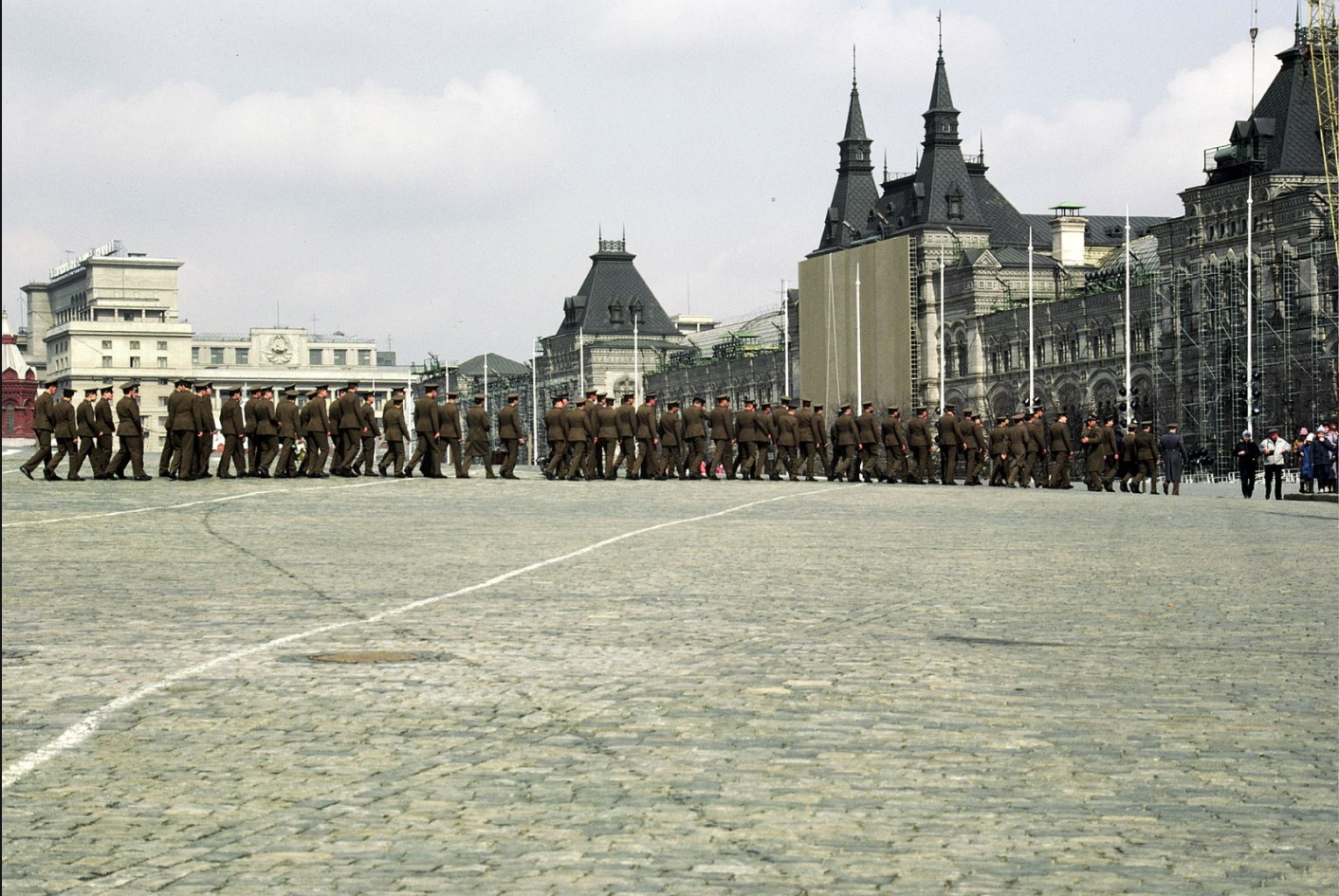 Солдаты на Красной площади