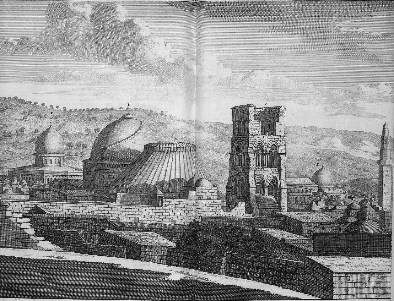 Путешествие из Рамы в Иерусалим. Вид Иерусалима и храма Гроба Господня
