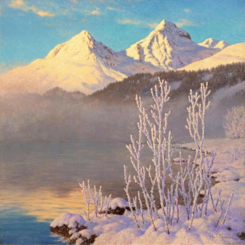 Вид на озеро Сен-Мориц (View of Lake St Moritz)_65.4 х 65_х.,м._Частное собрание.jpg