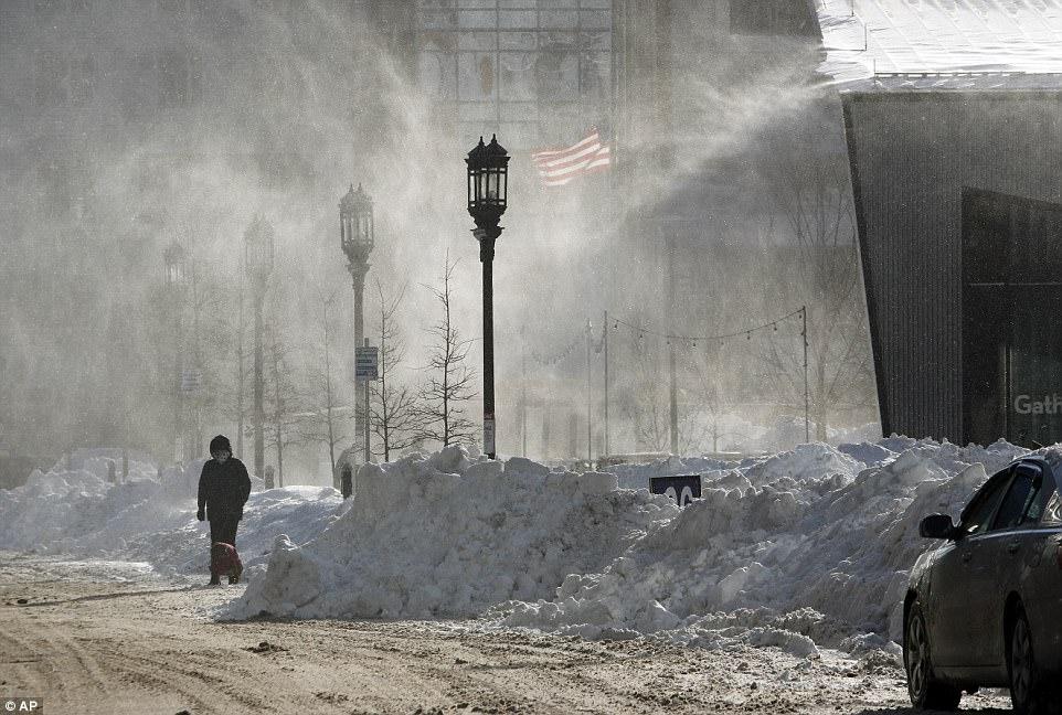 Аэрофотоснимки апокалиптического Нью-Йорка после «циклона-бомбы»