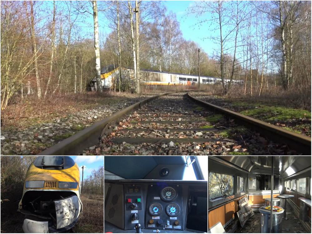 Заброшенный поезд «Евростар»