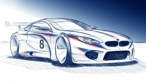 BMW показали скетчи гоночного M8 GTE