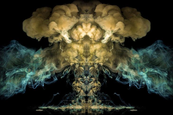 Взрывные произведения искусства с чернилами (10 фото)