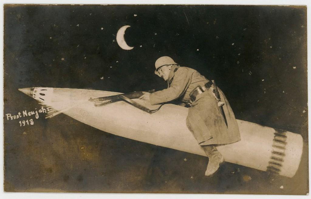 1917 год. «Счастливого Нового 1918 года». Неизвестная немецкая студия.