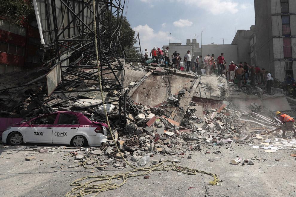 14. Мехико, 19 сентября 2017. (Фото Alfredo Estrella):