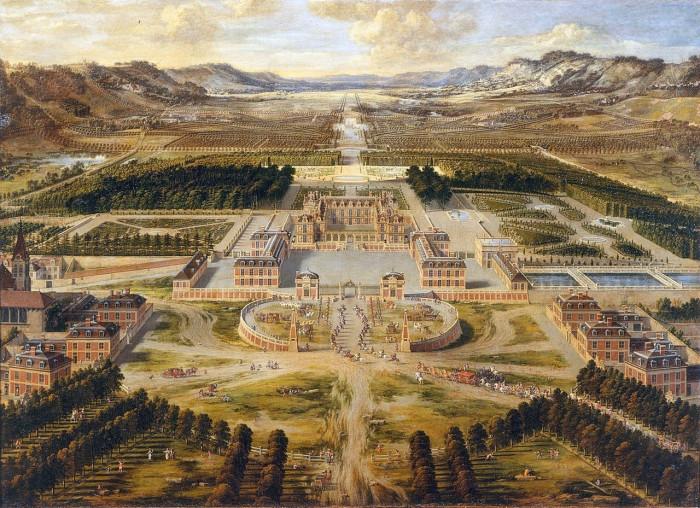 Версальский дворец. Pierre Patel, 1668 год.    Людовик XIV настойчиво акцентировал внимание арх