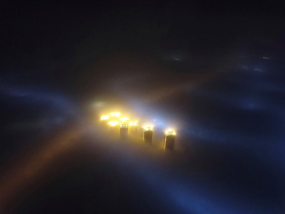 Китай задыхается от аномального смога (12 фото)