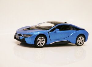 Машинка кинсмарт BMW i8 металлическая