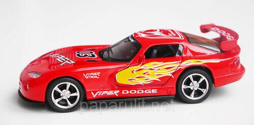 Металлическая машинка Kinsmart Dodge Viper раскрашенный