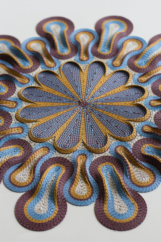 New Rolled Paper Tapestry Sculptures by Gunjan Aylawadi (12 pics)
