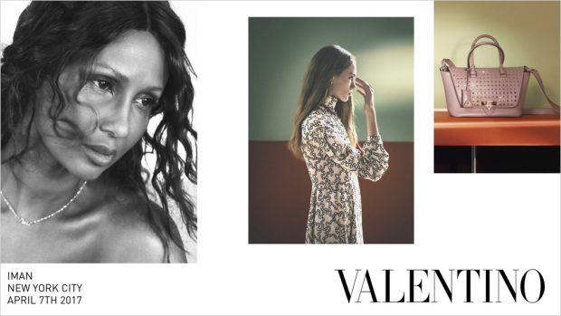Iman, Freja Beha, Giedre Dukauskaite, Faretta + More for Valentino FW17