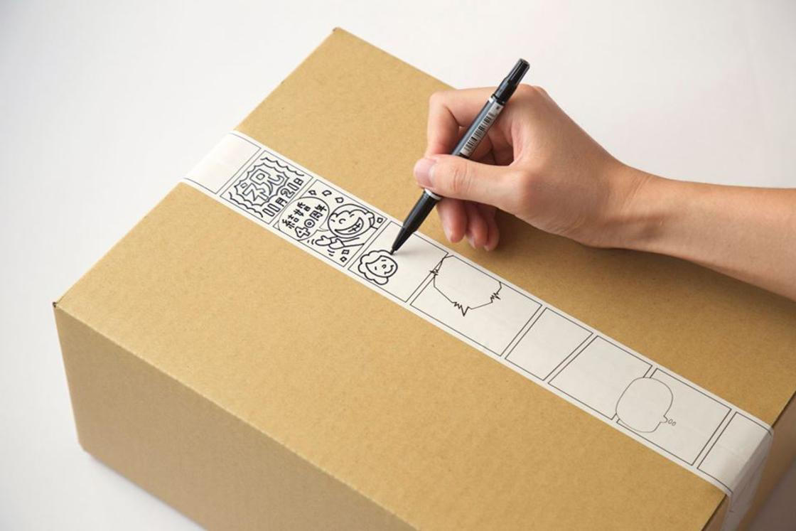 Manga Tape – An adhesive to create comic strips on your packages! (5 pics)