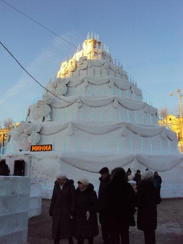 Снежно-ледяной торт в честь 295-летия Екатеринбурга