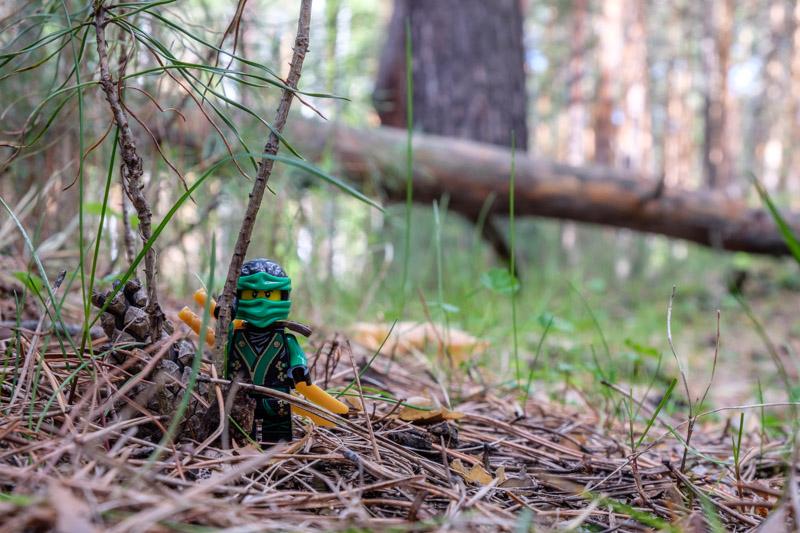 ниндзяго воин lego в лесу в разгуляевском парке, хорошее настроение